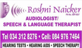 Roshni Naicker Audiology and Speech Therapy, Newcastle, Kwazulu Natal